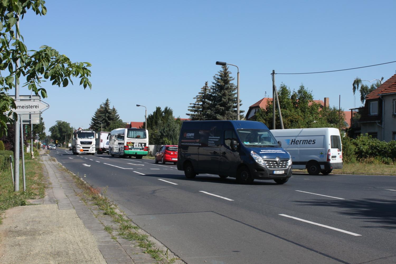 Dresdener Straße: Umleitungsbau beginnt in Herzberg - Lausitzer Rundschau