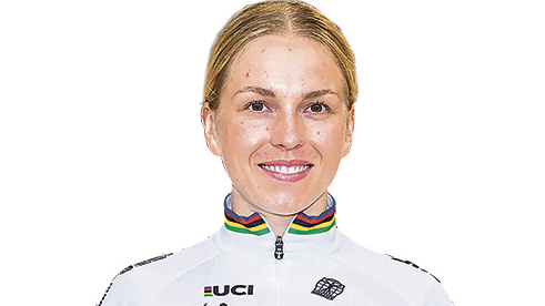 That is the Cottbus cosmos of world champion Emma Hinze
